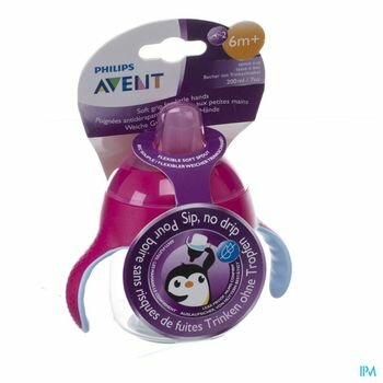avent-gobelet-anti-fuite-pinguin-rose-200-ml-a-partir-de-6-mois