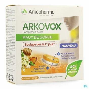 arkovox-maux-de-gorge-miel-citron-20-comprimes-a-sucer