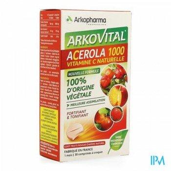 arkovital-acerola-1000-30-comprimes-15-comprimes-gratuits